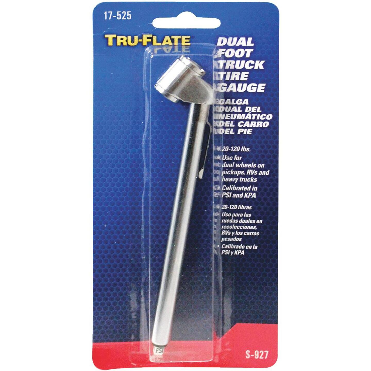 Tru-Flate 10-160 psi Chrome-Plated Tire Gauge Image 2